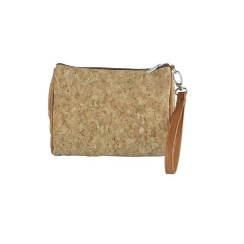 Picnic Gift 7720-CR Shirley Temple-Touch Up Insulated Cosmetics Bags with Removable Wristlet, Cork - Large