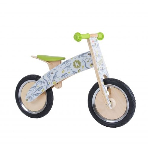 Kiddimoto Kids Kurve Wooden Balance Bike - Fossil Design