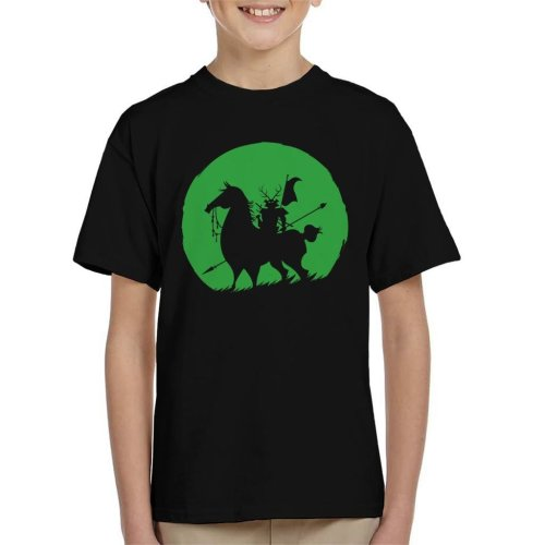 Shadow Warrior Green Silhouette Samurai Jack Kid's T-Shirt