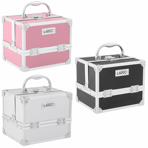 Aluminium Professional Cosmetic Makeup Vanity Travel Case Storage Nail Carry Box