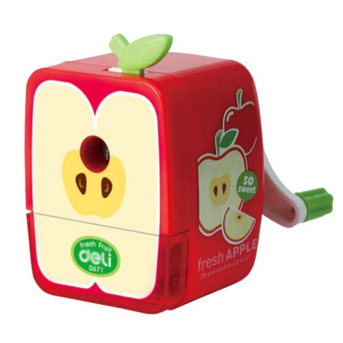 Lovely Office & School Supplies Hand Rotating Pencil Sharpener - Apple
