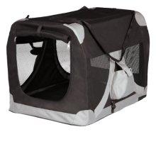 Trixie 39711 De Luxe Pet Carrier 35 × 35 × 50cm Black / Grey - 50cm -  35 trixie de luxe 39711 pet carrier 50 cm black grey