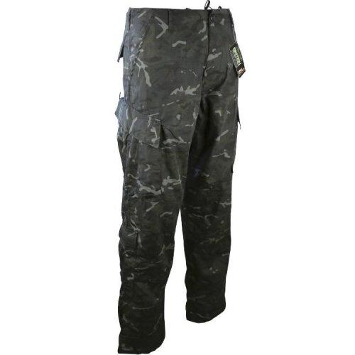 "Kombat Assault Trousers ACU Style BTP Black 42"" Extra Large"