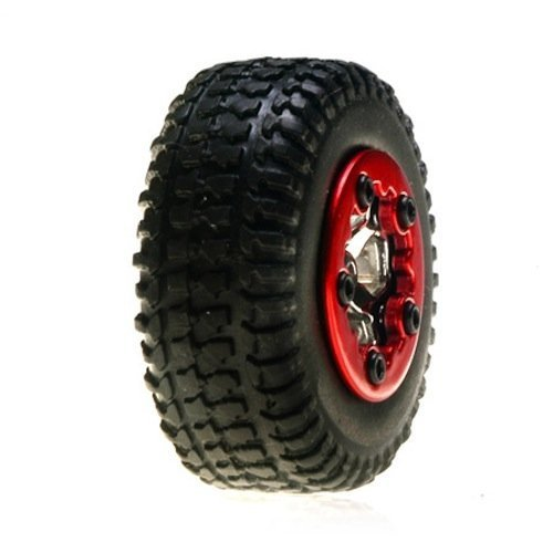 Team Losi Tires Mounted Chrome: Micro SCT(4)