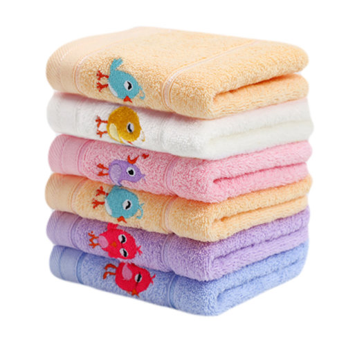 Set of 6 Rectangular Cotton Soft Touch Towels for Baby - 50*25 cm