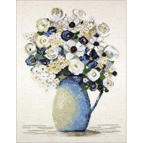 """Janlynn Counted Cross Stitch Kit 14""""X14""""-Anemones (14 Count)"""