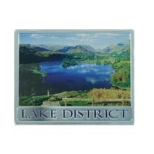 Lake District Foil Stamped Fridge Magnet Souvenir Gift National Park Blue Lake
