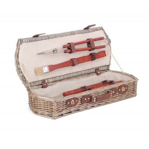Wicker Barbeque Tool Basket Set