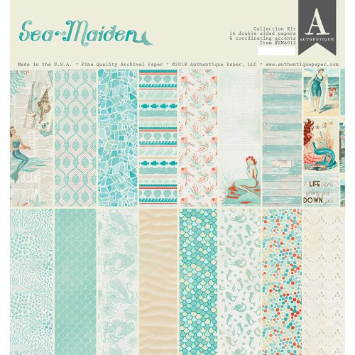 "Authentique Collection Kit 12""X12""-Sea-Maiden"