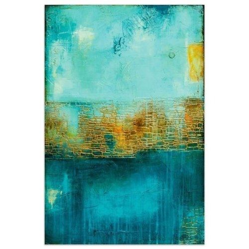 Empire Art Direct TMP-135371-4832 48 x 32 in. Castle Court Abstract Frameless Tempered Glass Panel Contemporary Wall Art