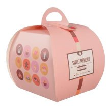 100PCS Cute Boxes With Handle For Pack Candies,Cake,Other Gift,in Party,Birthdays,and other Events,T