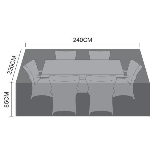 Nova - Large 6 Seat Rectangular Dining Set Outdoor Garden Patio Furniture Cover