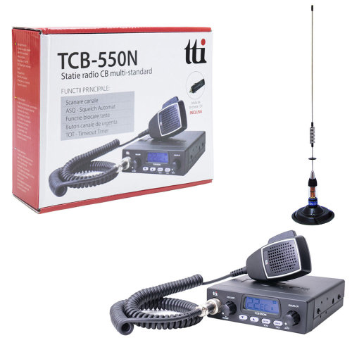 CB Radio TTi TCB-550  with CB Antenna PNI ML70