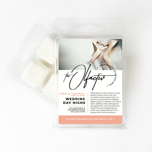Wax Melts, 80g - Wedding Day Highs (Bergamot, Grapefruit and Vanilla Musk)