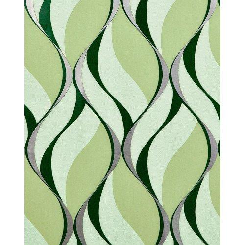 EDEM 1054-15 Retro wallpaper with metallic highlights green moss green 5.33 sqm