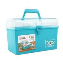 Home/Traveling Medicine Box Portable Rectangle Medicine Cabinet Storage Box Blue