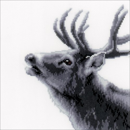 "Vervaco Counted Cross Stitch Kit 6.75""X6.75""-Deer On Aida (18 Count)"