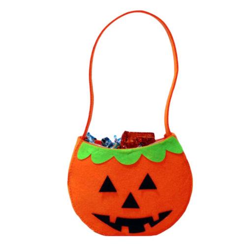 Trick Or Treat Pumpkin Halloween Party Decor Children Prop Candy Storage-A3