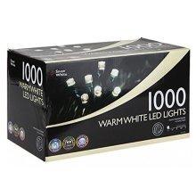 1000 Warm White LED Multi Function Christmas Lights - New Tree Deco Xmas Fairy -  new christmas tree deco xmas fairy indoor outdoor lights 1000 led