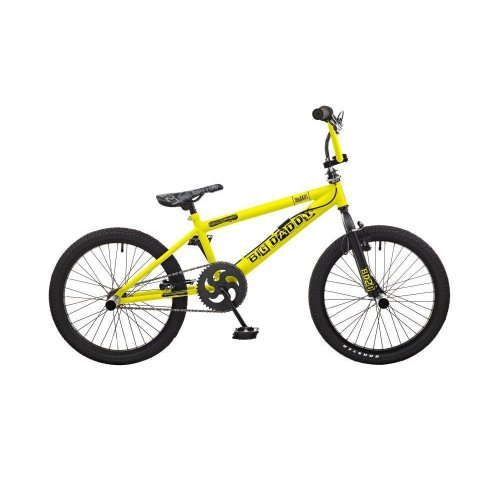 """Rooster Big Daddy Kids 20"""" Wheel Freestyle BMX Bike Bicycle Gyro Yellow RS119"""