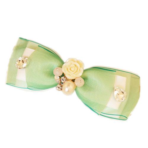 Green Lovely Rose Hair Claw Fashion Hair Clip Creative Hair Claw/Hairpin
