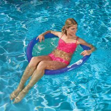 SwimWays Spring Float Papasan Chair | Floating Mesh Pool Seat
