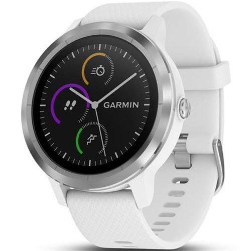 Garmin 72275 Vivoactive 3 GPS Stainless Steel Smart Watch - White