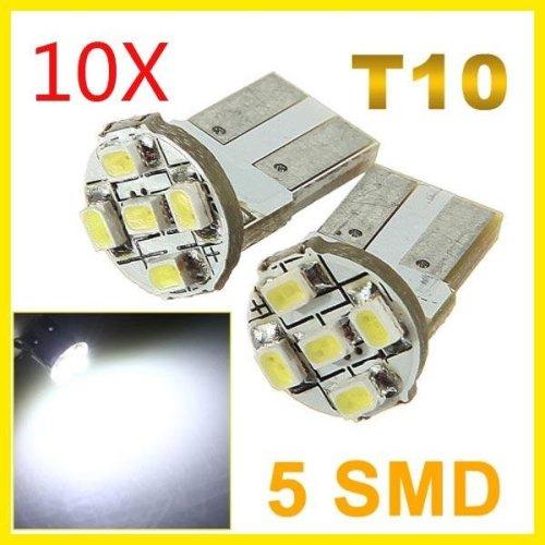 10X T10 Parker 2825 1206 5 LED Car Wedge SMD Bulb Light Lamp 12V