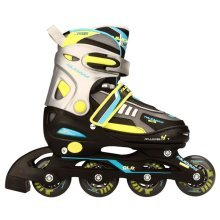 Nijdam Junior Inline Skates30-33Black/Lime/Blue/Silver/Anthracite 52SP