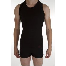 Mens Ostomy, Hernia or Post Surgery Support Vest–- Level 1 Light Support (S/M, Black)