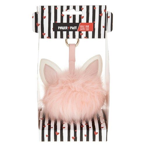 Novelty Pink Cat Pom Pom Portable Charger / Power Bank