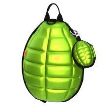 Creative Children Backpack Soft Shoulder Bag Fashion School Bag-Green