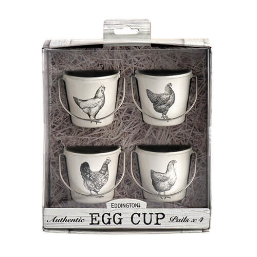 Eddingtons Vintage Hens Egg Cup Pails, Set of 4