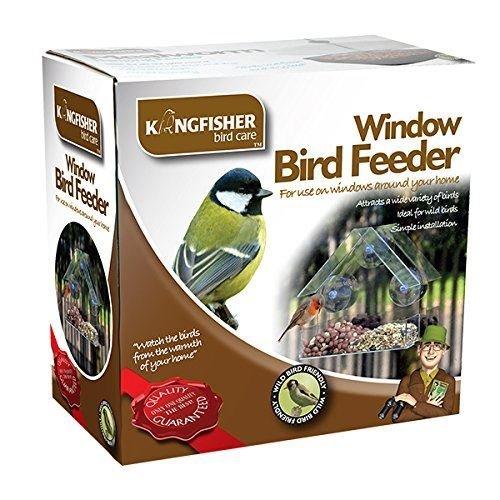 Kingfisher Window Glass Clear View Suction Bird Feeder