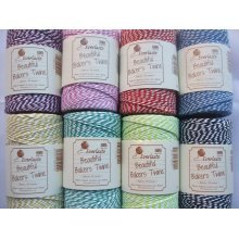 100m Roll Candy Striped Bakers Twine - Large Range of Colours