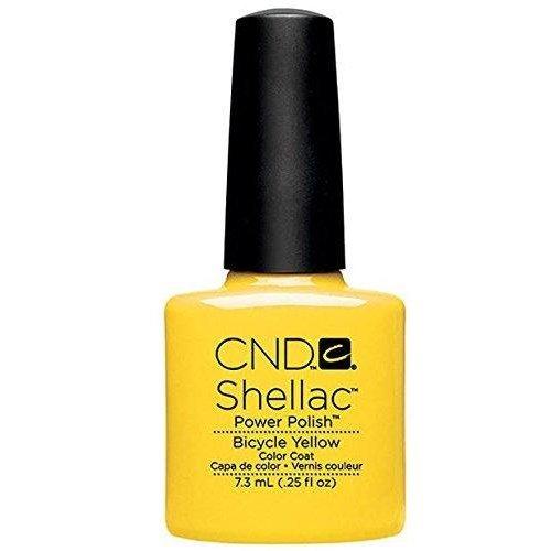 CND Shellac Nail Polish - Bicycle Yellow