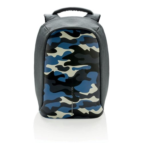 Bobby Compact Backpack - Camouflage Blue | Anti-Theft Travel Backpack
