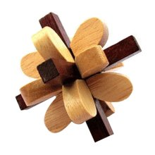 2 PCS Challenging Wood Brain Teaser Puzzle Disentanglement Puzzles, Style 14