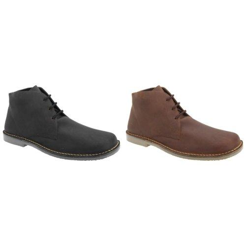 Roamers Mens Waxy Leather Fulfit Desert Boots