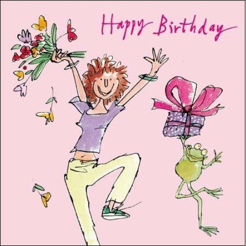 Female Birthday Card (WDM9204) Quentin Blake - Special Day - Lady & Frog