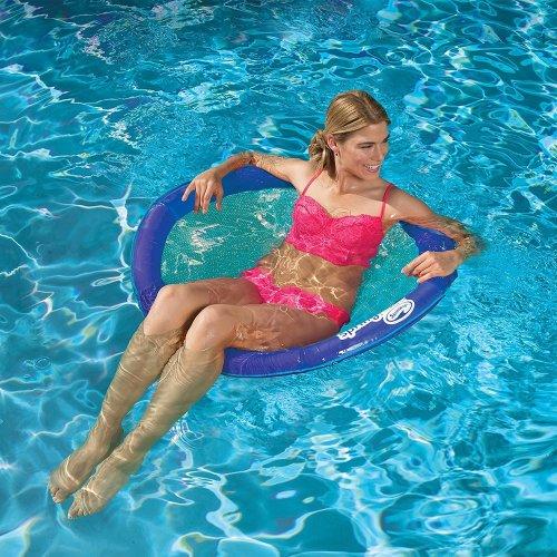 SwimWays Spring Float Papasan Chair | Floating Mesh Pool Seat
