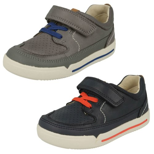Boys Clarks Casual Hook & Loop Fastening Shoes Mini Oasis - G Fit