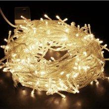 200 Warm White LED Multi Function Christmas Lights. - Desiretech 100200400 -  desiretech 100200400 led string fairy lights indooroutdoor xmas
