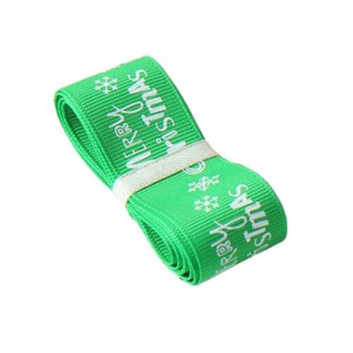 [Merry Christmas] Green, DIY Ribbon for Christmas Gift Wrapping Ribbon