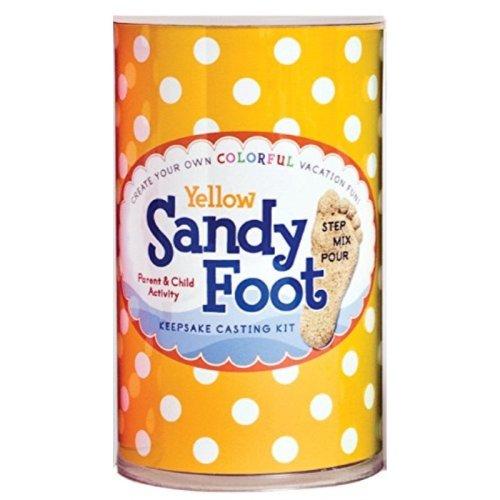 Spots and Ladybugs, LLC Sandy Foot Colorful Casting Kit - Yellow Yellow