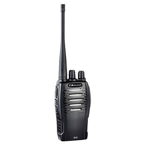 Midland G10 PMR446 2-Way Professional Style Licence Free Handheld Radio with Desk Charger