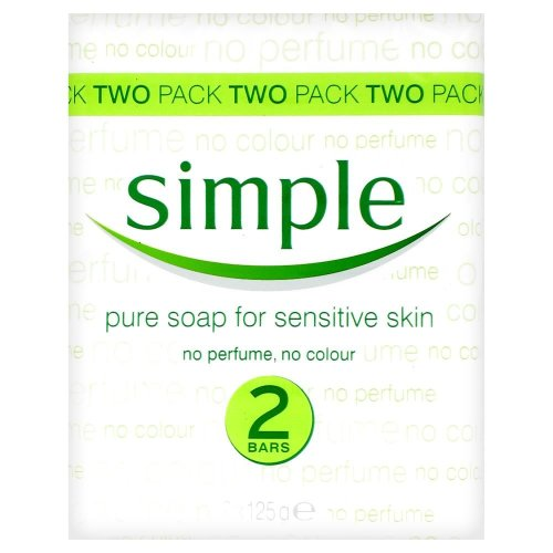 Simple Pure Soap for Sensitive Soap 125g (2 Bars)