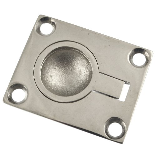 Recessed Lift Ring Pull Polished Marine Grade Stainless Steel DK06