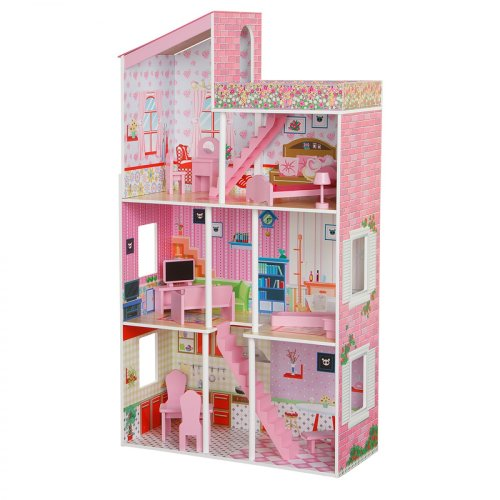Plum Tillington Wooden Dolls House with Dolls House Accessories