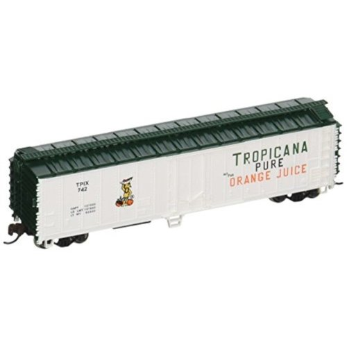 Bachmann Industries ACF 50' Steel Reefer Tropicana Car, White/Green, N Scale